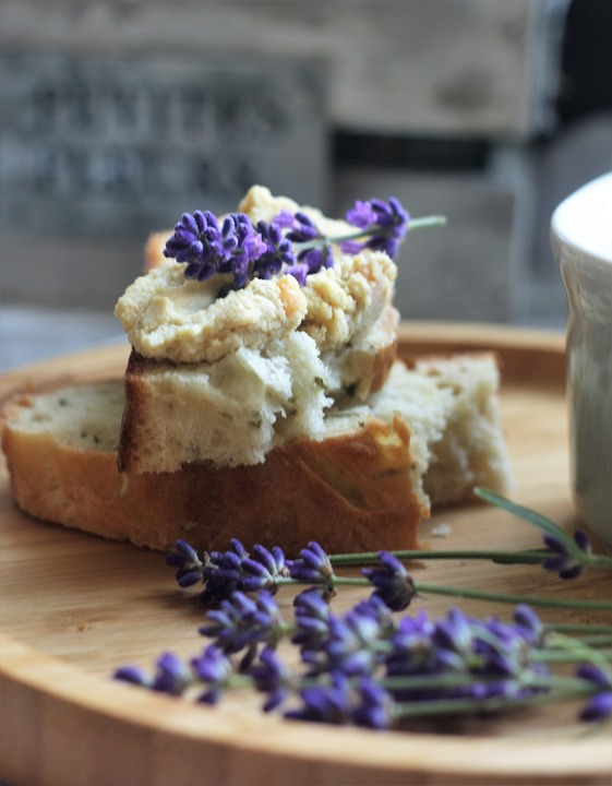 Lavender is used in  tea breads