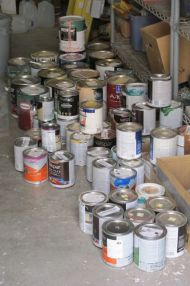 Lots of donated paint