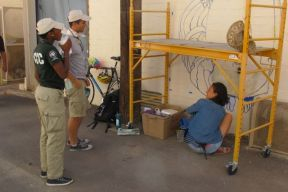 Two AmeriCorps volunteers, working at the Sonoran Desert Conference Center, came for a look-see