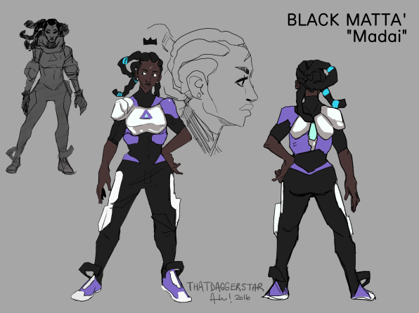 """Main Protagonist of personal project called """"Black Matta"""". Searching for her purpose."""