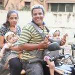 Bindu with Husband