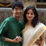 Priya Badshah with Husband
