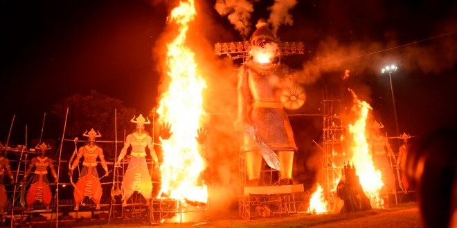 Salt Lake Ravana Effigy Burnt on Dussehra