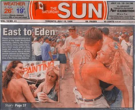 Edenfest 1996 - Toronto Sun