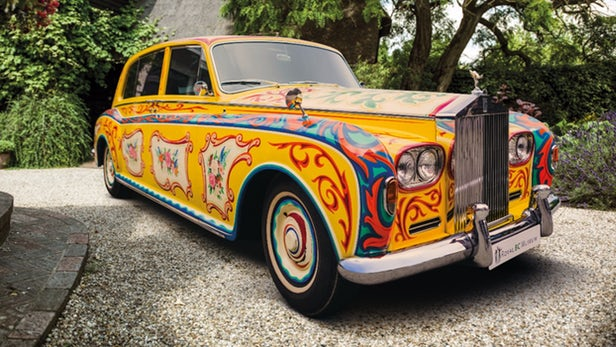 John Lennon's famous psychedelic Rolls-Royce returns to Britain