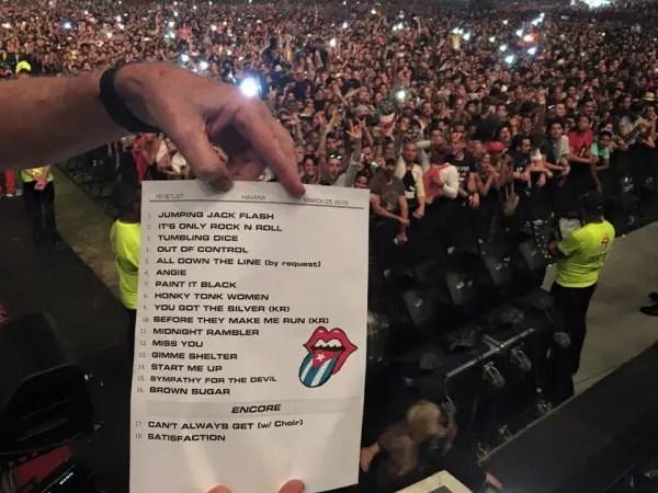 Rolling Stones setlist Cuba 25 March 2016