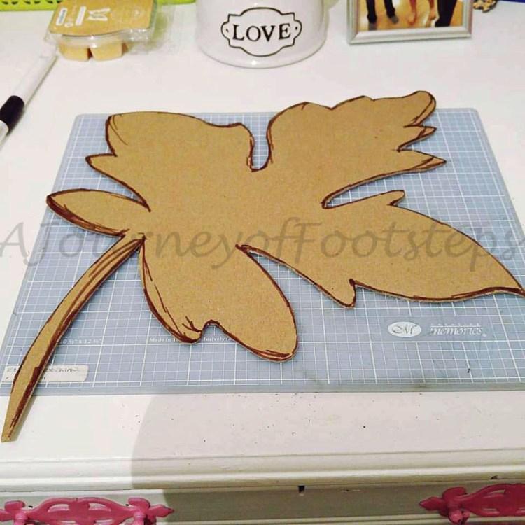 leaf door decoration, crafts, autumn,