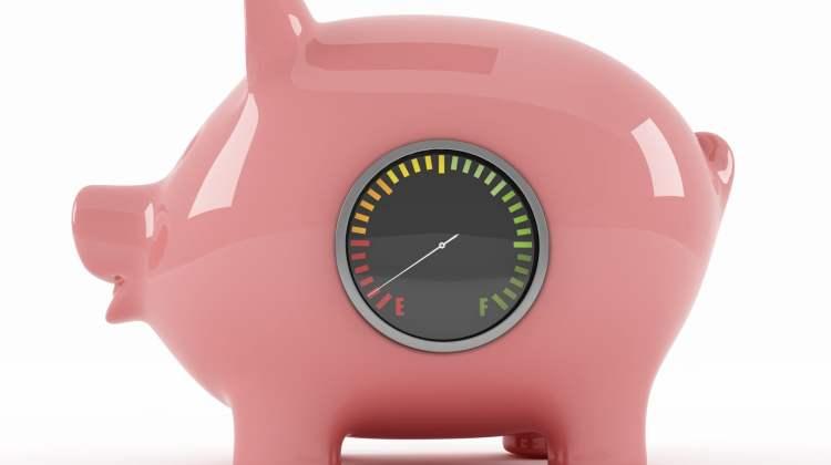 piggy bank: penalty rates concept