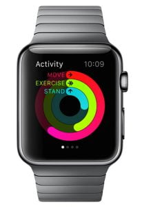 Apple Watch showing physical activity monitor. Image by Должин Жаргалсайхан