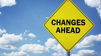 changes ahead sign