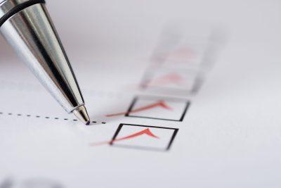 pen survey check boxes tick