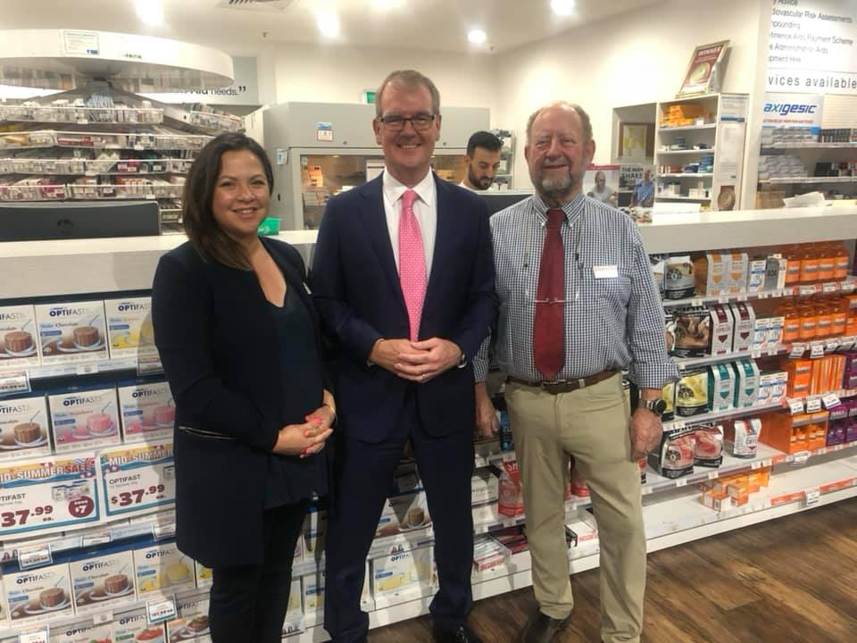 Catherine Bronger, NSW Opposition Leader Mike Daley  and John Bronger.