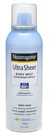 Can of sunscreen spray Neutrogena