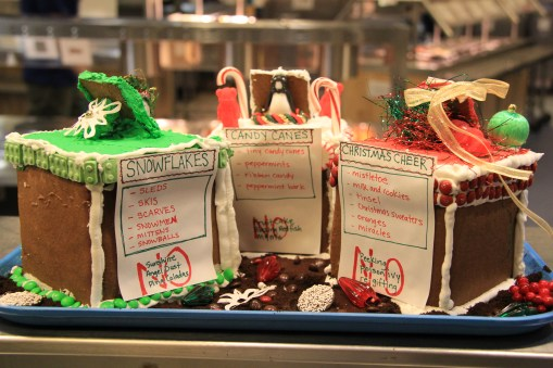 Our gingerbread rendition to the McMurdo Station trash bins, Christmas edition, Nice Bins. © A. Padilla