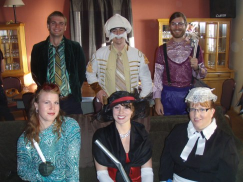 Our full cast in costume. I'm sure you can all figure out the theme. Back Row (L to R): Tyler, Abe, and Buddy. Front Row: Kate, Bev, and Mindy. © A. Padilla