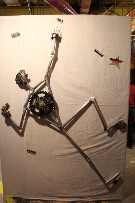 MAAG Exhibit G: Rock climber created from waste metal pieces. Artist: Orin Salah. © A. Padilla