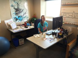Bev in her office, at McMurdo Station's Crary Science & Engineering Center (CSEC). © A. Padilla