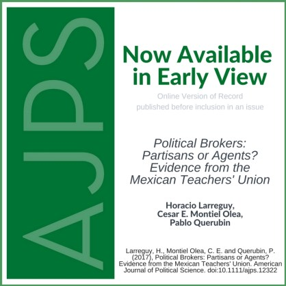 Political Brokers: Partisans or Agents? Evidence from the Mexican Teacher's Union