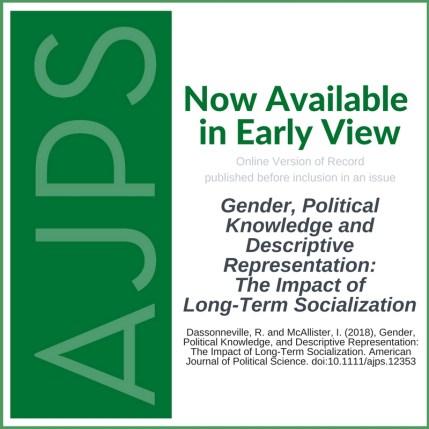 AJPS-Author Blog Post - Gender, Political Knowledge, and Descriptive Representation - Dassonneville - McAllister