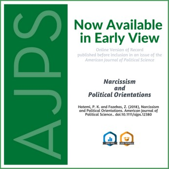 AJPS Author Summary: Narcissism and Political Orientations