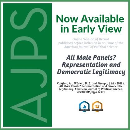 All Male Panels Erode Citizens' Perceptions of Democratic Legitimacy