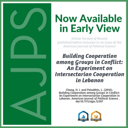 Building Cooperation among Groups in Conflict: An Experiment on Intersectarian Cooperation in Lebanon