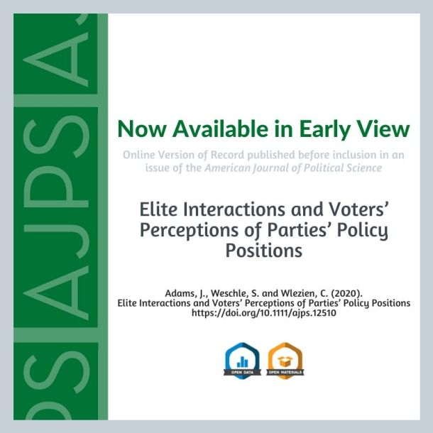 Elite Interactions and Voters' Perceptions of Parties' Policy Positions