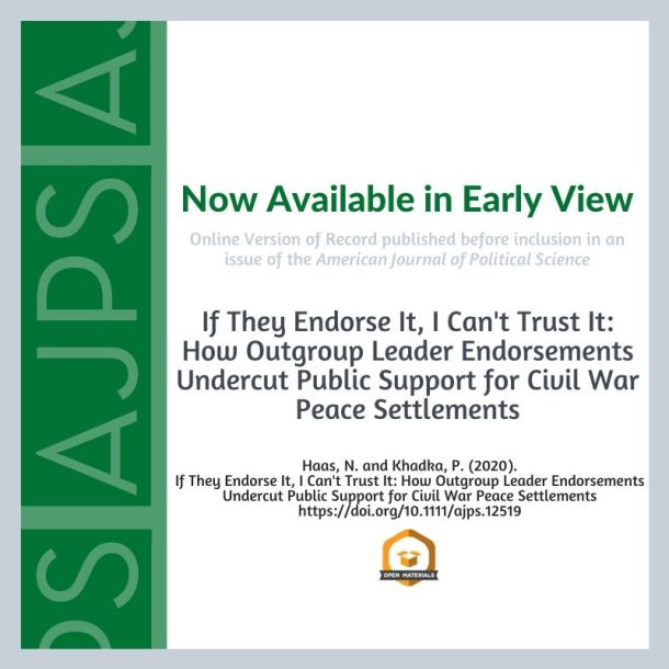 If They Endorse It, I Can't Trust It: How Outgroup Leader Endorsements Undercut Public Support for Civil War Peace Settlements