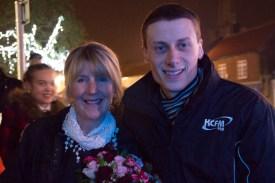 Matt Hutchinson with 2014 Bake Off Winner Nancy Birtwhistle