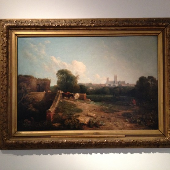 Lincoln from the south with Bargate, Peter DeWint 1824
