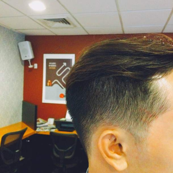 Not sure if the first after-my-new-haircut photo was clear enough to see the details so here's another side view angle.