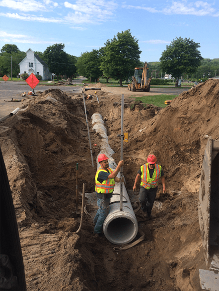 Laying water line for County pic 6