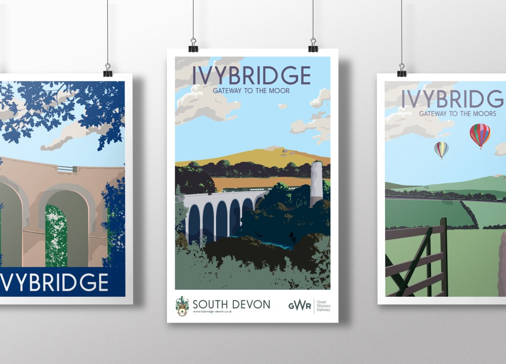 GWR and Ivybridge Town Council Railway Poster
