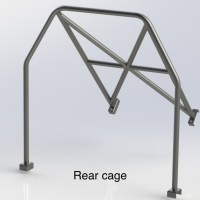 FORD FIESTA MK6 (Half Cage) 6 Point Bolt in Roll Cage