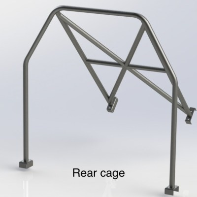 HONDA CIVIC EF (Half Cage) 6 Point Bolt in Roll Cage