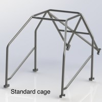 RENAULT MEGANE 2 (HALF CAGE) 6 Point Bolt in Roll Cage