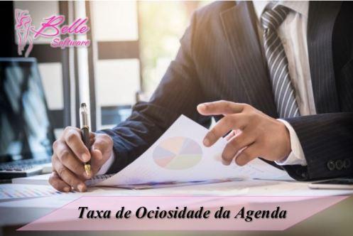 Taxa de Ociosidade de Agenda de Estética