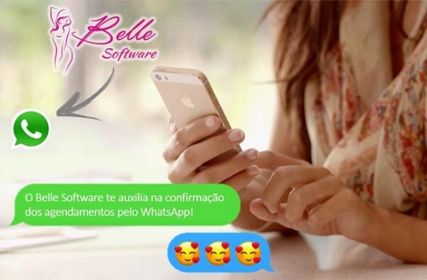 Sistema Belle Software: Mensagens pelo WhatsApp