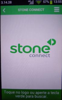 Tela inicial do Stone Connect