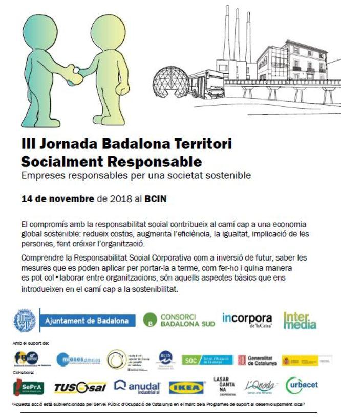 El BCIN acull la III Jornada Badalona Territori Socialment Responsable: Empreses Responsables per una Societat Sostenible