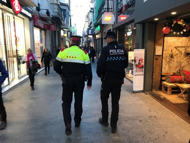 Guàrdia Urbana i Mossos d'Esquadra activen durant la campanya de Nadal un dispositiu conjunt de vigilància per les zones comercials de Badalona