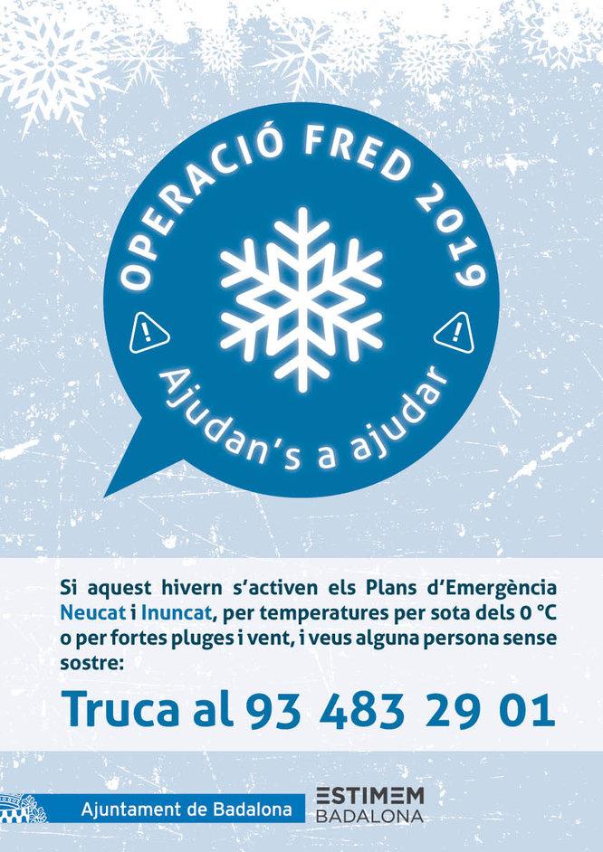 Badalona té a punt l'Operació Fred per activar en el moment que aquest hivern les temperatures baixin a 0ºC