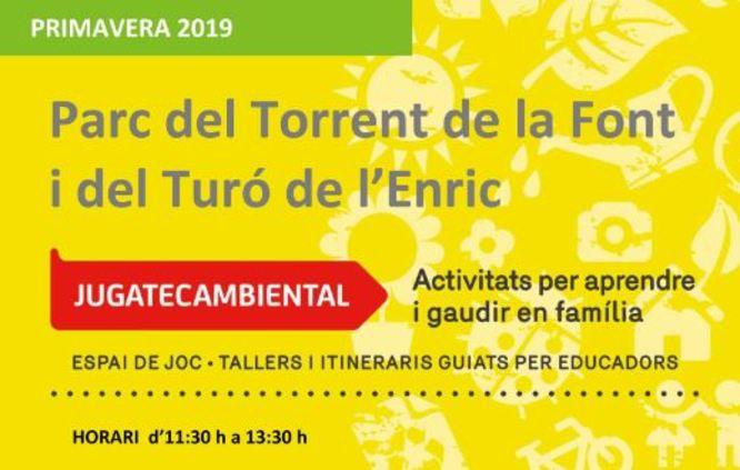 La Jugatecambiental ha preparat activitats familiars per aquest diumenge al parc de Can Solei i Ca l'Arnús i al parc del Torrent de la Font i del Turó de l'Enric