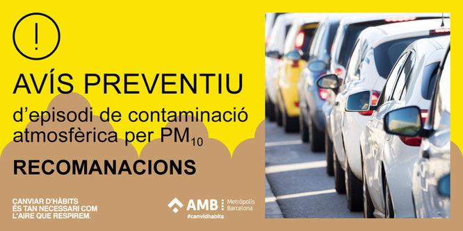Desactivat l'episodi per alta contaminació per partícules a Catalunya, que passa a la fase d'avís preventiu