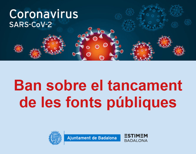 Les fonts públiques no funcionaran durant l'estat d'alarma per evitar el risc de contagi per coronavirus