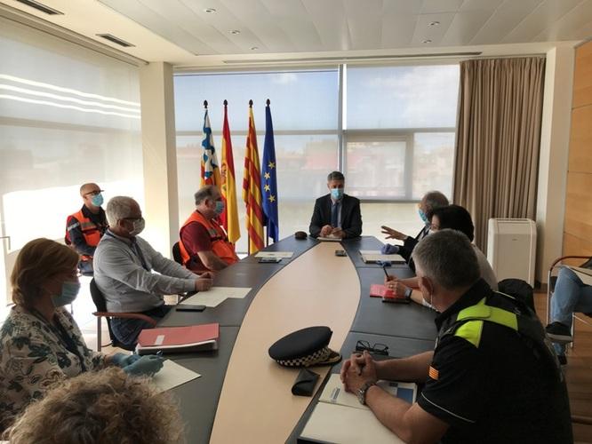 L'alcalde de Badalona es reuneix amb el Comitè d'emergències encarregat del seguiment diari de l'evolució del coronavirus