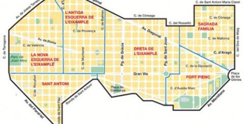 Resultado de imagen de barcelona eixample map