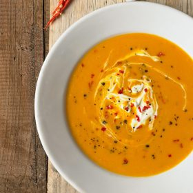 Kremna juha iz maslene buče