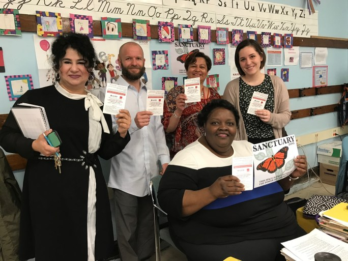 Teachers join their students in demanding sanctuary schools