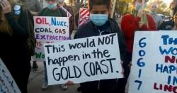 Environmental Racism protest, photo by Frank Thomas via Southeast Side Coalition to Ban Petcoke
